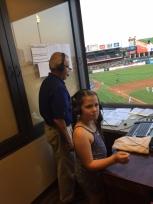 Granddaughter Cameron Wetsel helps broadcast Express vs. Salt Lake